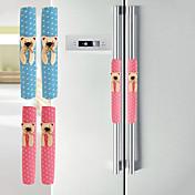 patrón de oso de tela de algodón armario& pomo de la puerta del refrigerador cubre par de guantes k3586