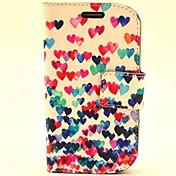 Para Funda Samsung Galaxy Soporte de Coche / con Soporte / Flip / Diseños Funda Cuerpo Entero Funda Corazón Cuero Sintético SamsungS3