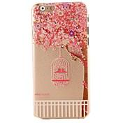 rosa patrón de flores de cerezo CASOR duro iPhone 6 Plus