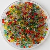 600-pakning flerfarget håndverk ponni perler 2mm håndlagde GDS håndverket materiale / tilbehør til klær
