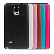 용 Samsung Galaxy Note Other 케이스 뒷면 커버 케이스 단색 TPU Samsung Note 4
