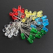led5mm rød, grønn, blå og gule lysdioder 10 hver, totalt 50stk