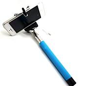 아이폰 DF 케이블 테이크 극 확장 selfie 휴대용 모노 포드 스틱 홀더 5 / 5S / 6 (모듬 색상)