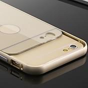 Para Funda iPhone 6 / Funda iPhone 6 Plus Cromado Funda Cubierta Trasera Funda Un Color Dura PolicarbonatoiPhone 6s Plus/6 Plus / iPhone