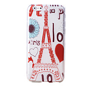 Para Funda iPhone 6 / Funda iPhone 6 Plus Diseños Funda Cubierta Trasera Funda Torre Eiffel Suave TPU iPhone 6s Plus/6 Plus / iPhone 6s/6
