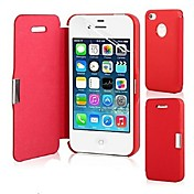 Etui Til iPhone 5 Apple Etui iPhone 5 Flipp Magnetisk Heldekkende etui Helfarge Hard PU Leather til iPhone SE/5s iPhone 5