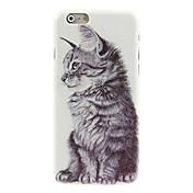 용 아이폰6케이스 / 아이폰6플러스 케이스 패턴 케이스 뒷면 커버 케이스 고양이 하드 PC iPhone 6s Plus/6 Plus / iPhone 6s/6