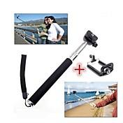 bluetooth del palillo del selfie extensible con para el iphone 8 7 galaxia s8 s7 de Samsung para ios / teléfono androide hiawei xiaomi nokia