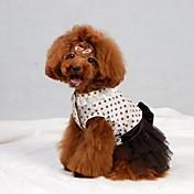 Vestidos para Perros Marrón Verano XS / S / M / L / XL Algodón