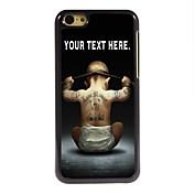 caso personalizado diseño de metal caso chico por 5c iphone