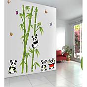 panda linda etiqueta de la pared del pvc