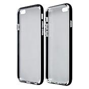 Marco Parachoques/Cubierta Posterior - Metálica/Transparente - para iPhone 6 ( Negro/Azul/Oro/Plata , TPU/Aluminio )