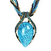 Mujer Joyas Forma Vintage Bohemio Moda Collares Vintage Strands Collares Collares Declaración Cristal Cristal Resina Brillante Ópalo