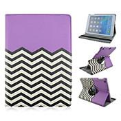 Etui Til iPad 4/3/2 med stativ Origami 360° rotasjon Heldekkende etui Geometrisk mønster PU Leather til iPad 4/3/2