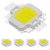 zdm 5pc varm hvit / kald hvit 900lm 32-35v 0.3a integrert led lysdiode ledd chip ren gull ledning / aluminium for diy led flom lys spotlight 10w