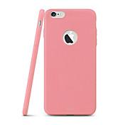 Etui Til Apple iPhone 8 iPhone 8 Plus iPhone 6 iPhone 6 Plus Ultratynn Bakdeksel Helfarge Myk TPU til iPhone 8 Plus iPhone 8 iPhone 6s