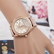 yoonheel Dame Armbåndsur Imitasjon Diamant Metall Band Mote / Elegant / Simulert Diamond Watch Sølv / Gylden / Rose Gull / Ett år / SODA AG4