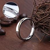 Personlig - Rustfritt stål sølv - Ringe