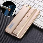 사과 iphone6에 대한 담배 라이터 기능 휴대 전화 케이스 배터리 커버 쉘 플러스 / 5.5inch (모듬 색상)