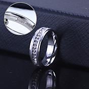 personalisert gave unisex ring rustfritt stål gravert smykker