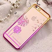 Para Funda iPhone 5 Diamantes Sintéticos Funda Cubierta Trasera Funda Gradiente de Color Dura Policarbonato iPhone SE/5s/5