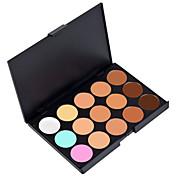 15 colores 3IN1 camuflaje profesional paleta de cosmética corrector / Fundación / maquillaje natural bronceador facial