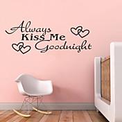 항상 날 굿나잇 따옴표 zy8053 adesivo 드에서 Parede 비닐 벽 스티커 홈 장식 벽화 예술 키스