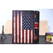 Etui Til iPad Air Folio Veske Flerfarget Spesielt design Nasjonalflagg Lær PU Leather til