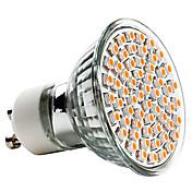 3W 250-350 lm GU10 Focos LED MR16 60 leds SMD 3528 Blanco Cálido AC 220-240V