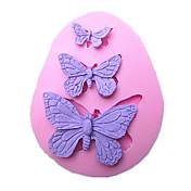 Herramientas de la mariposa de la torta del molde de silicona para hornear hecha a mano decoraciones para tartas fondant de chocolate molde SM-042