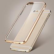 rock metal bumper akryl krystall gjennomsiktig tilbake tilfelle dekke for iPhone 6 pluss