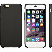 용 아이폰6케이스 / 아이폰6플러스 케이스 충격방지 케이스 뒷면 커버 케이스 단색 하드 인조 가죽 iPhone 6s Plus/6 Plus / iPhone 6s/6