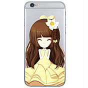 Para Funda iPhone 6 / Funda iPhone 6 Plus Transparente / Diseños Funda Cubierta Trasera Funda Dibujos Dura TPUiPhone 6s Plus/6 Plus /