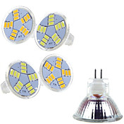 Focos LED MR11 15 SMD 5730 400-500 lm Blanco Cálido Blanco Fresco 2800-3500/6000-6500 K AC 12 V