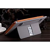 Funda Para iPad Air Soporte de Coche con Soporte Activado / Apagado Automático Funda de Cuerpo Entero Color sólido Cuero de PU para iPad