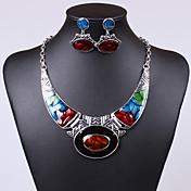 Mujer Juego de Joyas Pendientes colgantes Collares con colgantes Piedra Preciosa y Cristal Piedras preciosas sintéticas Cristal Zirconia