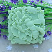 bee blomster håndlaget såpe Form  kake sjokolade silikon Form, dekorasjon verktøy bakeredskap