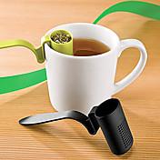 cucharadita de forma cuchara de té de plástico infuser especias hierbas hoja (color al azar)