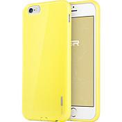 Para Funda iPhone 6 / Funda iPhone 6 Plus Ultrafina Funda Cubierta Trasera Funda Un Color Suave TPU iPhone 6s Plus/6 Plus / iPhone 6s/6