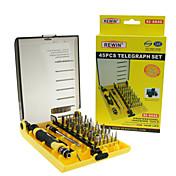 conjunto de herramientas destornillador eléctrico 45pcs rewin® profesional