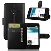 용 알카텔 지갑 / 카드 홀더 / 스탠드 / 플립 케이스 풀 바디 케이스 단색 하드 인조 가죽 Alcatel
