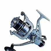 Carrete de la pesca Carrete para pez carpa Carretes para pesca spinning 5.2:1 11 Rodamientos de bolas Intercambiable Pesca de Mar Pesca