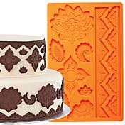 케이크 장식 도구 글로벌 퐁당과 껌 붙여 넣기 금형 케이크 테두리 실리콘 몰드 FM-03