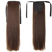 Con Clip Corte Recto Coletas Sintético Pedazo de cabello La extensión del pelo