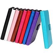 superficie de luz de color YMX-sólida de la PU de cuero de cuerpo completo billetera caja del teléfono protector para el iphone 4 / 4s