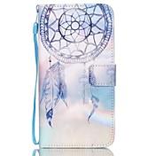 Etui Til Samsung Galaxy Samsung Galaxy Etui Kortholder Lommebok med stativ Flipp Inngravert Heldekkende etui Drømmefanger PU Leather til