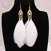 여성 드랍 귀걸이 유럽의 의상 보석 보석류 합금 깃털 보석류 제품