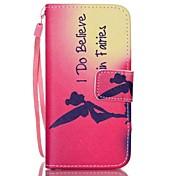Etui Til iPhone 5 Apple Etui iPhone 5 Kortholder Lommebok med stativ Flipp Mønster Heldekkende etui Ord / setning Hard PU Leather til