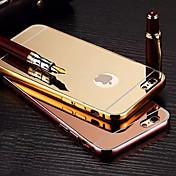 chapado espejo atrás con la caja del teléfono estructura de metal para el iphone 6plus / 6s más (colores surtidos)