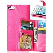 Para iPhone X iPhone 8 iPhone 6 iPhone 6 Plus Carcasa Funda Soporte de Coche Cartera con Soporte Flip Cuerpo Entero Funda Color sólido